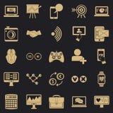 Intelekt ikony ustawiać, prosty styl royalty ilustracja