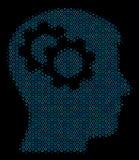 Intelekt Przygotowywa kolaż ikonę Halftone okręgi ilustracja wektor