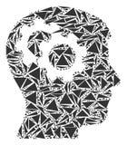 Intelekt Przygotowywa kolaż trójboki royalty ilustracja