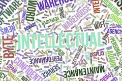 Intelektualista, konceptualna słowo chmura dla biznesu, technologie informacyjne lub IT, royalty ilustracja