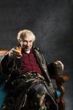 Intelektualny stary człowiek Zdjęcia Royalty Free