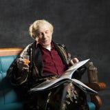 Intelektualny stary człowiek Zdjęcie Stock