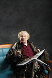 Intelektualny stary człowiek Zdjęcia Stock