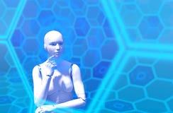 Inteligência artificial ilustração do vetor