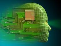 Inteligência artificial Imagens de Stock Royalty Free
