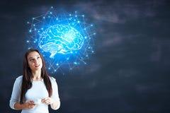 Inteligência artificial e rede imagem de stock