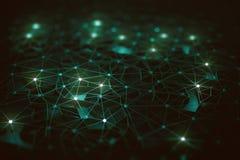 Inteligência artificial/rede neural Foto de Stock Royalty Free