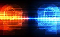 Inteligência artificial Tecnologia digital do AI no futuro Conceito virtual Fundo da ilustração do vetor ilustração royalty free