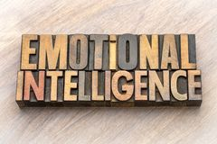Inteligência emocional - sumário da palavra imagem de stock royalty free