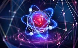Intelig?ncia artificial Criação de uma mente digital Processador inovativo no Cyberspace global ilustração royalty free