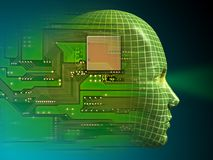 Inteligencia artificial Imágenes de archivo libres de regalías