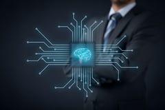 Inteligencia artificial ilustración del vector