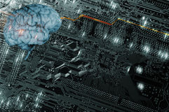 Inteligencia artificial, comunicación y futurista Foto de archivo