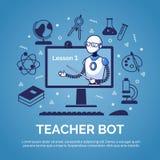 Inteligencia artificial Concepto del bot del profesor imagenes de archivo