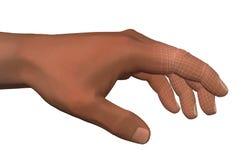 Inteligencia artificial de la mano humana Imágenes de archivo libres de regalías