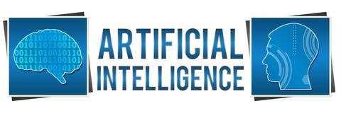 Inteligencia artificial dos cuadrados Fotos de archivo libres de regalías