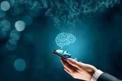 Inteligencia artificial en smartphone libre illustration