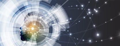 Inteligencia artificial Fondo del web de la tecnología Concentrado virtual Fotografía de archivo