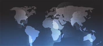 Inteligencia artificial Fondo del web de la tecnología Concentrado virtual Imagen de archivo libre de regalías