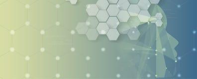 Inteligencia artificial Fondo del web de la tecnología Concentrado virtual Fotos de archivo