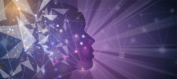 Inteligencia artificial Fondo del web de la tecnología Concentrado virtual Foto de archivo libre de regalías