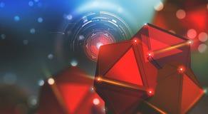 Inteligencia artificial Observación, recopilación de datos y protección Concepto grande de los datos Mente del ordenador y arquit ilustración del vector