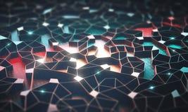 Inteligencia artificial/red neuronal fotos de archivo libres de regalías