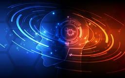 Inteligencia artificial Tecnología digital del AI en futuro Concepto virtual Fondo de la ilustración del vector stock de ilustración