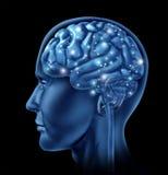 Inteligencia de la actividad de cerebro Imágenes de archivo libres de regalías