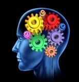 Inteligencia de la actividad de cerebro Imagen de archivo libre de regalías