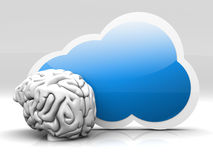 Inteligencia de la nube Fotografía de archivo libre de regalías