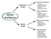 Inteligencia de mercado Fotografía de archivo