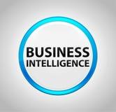Inteligencia empresarial alrededor del botón azul ilustración del vector
