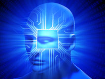 Inteligencia general artificial stock de ilustración