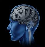 Inteligencia humana confusa Imagenes de archivo
