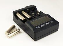 Inteligentnego accumulator bateryjna ładowarka Obrazy Royalty Free