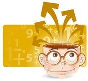 inteligentny chłopak ilustracja wektor