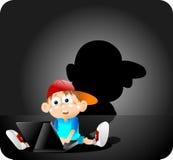 inteligentny chłopak ilustracji
