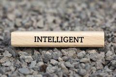 INTELIGENTNY - GŁUPI - wizerunek z słowami kojarzącymi z temat SZTUCZNĄ inteligencją, słowo chmura, sześcian, list, wizerunek, il zdjęcie stock