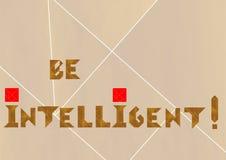 Inteligentny logo ilustracja wektor
