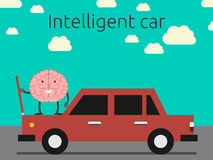 Inteligentny samochodowy pojęcie ilustracja wektor