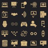 Intellect icons set, simple style. Intellect icons set. Simple set of 25 intellect vector icons for web for any design royalty free illustration