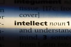 Intellect. Word in a dictionary.  concept stock photography