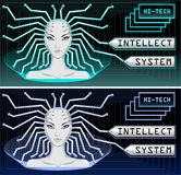 Intellect system and hi tech technology Royalty Free Stock Photo