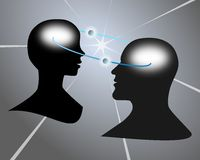 Intellectual communication Stock Images