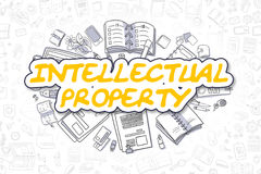 Intellectual Property - Business Concept. Royalty Free Stock Photo