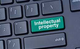 Intellectual property on computer keyboard. Button Stock Photography