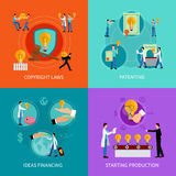 Intellectual property design  concept set Royalty Free Stock Image
