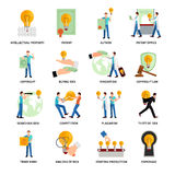Intellectual Property Icons Royalty Free Stock Image