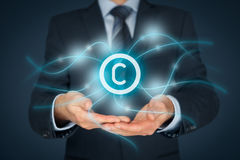 Intellectual property protection and copyright Stock Photos